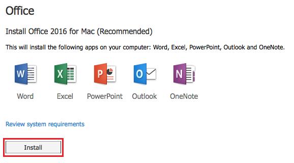 Microsoft Office Installation - Mac – The Michener Institute Helpdesk